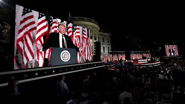 سخنرانی انتخاباتی ترامپ در کاخ سفید