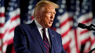 President Donald Trump speaks from the South Lawn of the White House on the fourth day of the Republican National Convention, Thursday, Aug. 27, 2020,