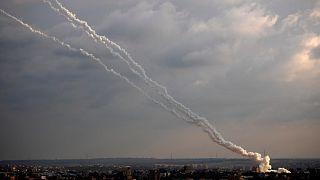 صواريخ أطلقت من القطاع في شباط/فبراير الماضي (أرشيف)