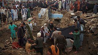 Afganistan'da arama kurtarma operasyonu