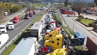 Chiles Lastwagenfahrer streiken