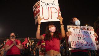 مظاهرة نسائية في إسرائيل