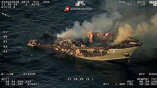 غرق کشتی تفریحی در ایتالیا