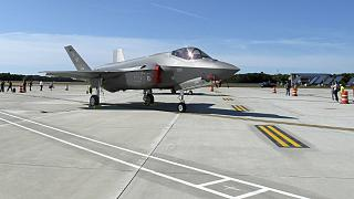 The first two F-35 fighter jets arrived on Thursday, Sept. 19, 2019, at the Vermont Air National Guard base in South Burlington
