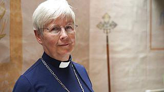 Cristina Grenholm tiszteletes, a svéd teológia rektora és az egyházi tanács titkára