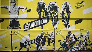 Cartel del Tour de Francia en Niza