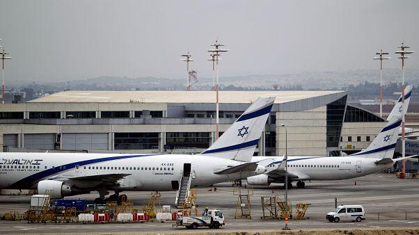 طائرات العال الإسرائيلية في مطار بن غوريون بالقرب من تل أبيب.