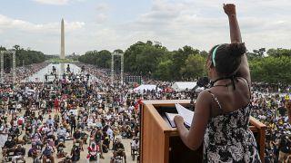 La petite-fille de Martin Luther King reprend le flambeau de la lutte anti-raciste. Washingtin, le 28/08/2020