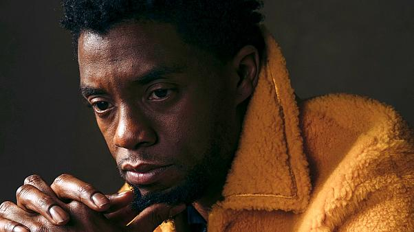 """In this Feb. 14, 2018 photo, actor Chadwick Boseman poses for a portrait in New York to promote his film, """"Black Panther"""