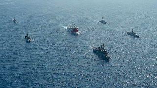 سفن عسكرية تركية في المتوسط