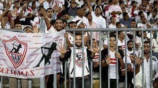 مشجعون لنادي الزمالك المصري في صورة من الأرشيف