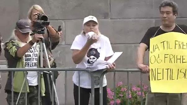 Διαδήλωση ακροδεξιών αντι- μουσουλμάνων στο Όσλο