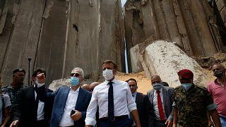 Emmanuel Macron à Beyrouth, le 6 août 2020