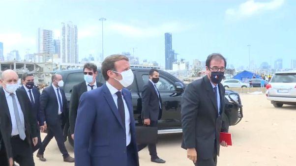 Emmanuel Macron de visita a Beirute