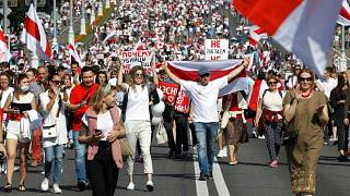 تظاهرات مخالفان در بلاروس