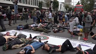 Die-in protest against racism staged in London