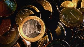Euro coins are seen in Frankfurt, central Germany, Tuesday, Nov. 28, 2006.