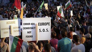 A demokrácia gyengülésére figyelmeztetnek tüntetők Bulgáriában