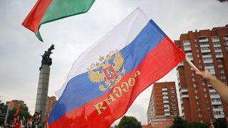 Rusya ve Belarus bayrakları