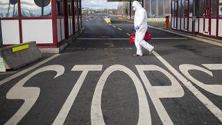 Koronavírus - Ellenőrzés a letenyei közúti határátkelőhelyen  2020. február 5-én