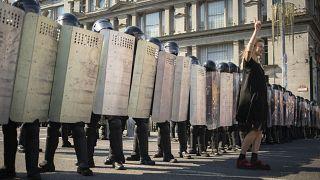 تصویری از تظاهرات یکشنبه در بلاروس