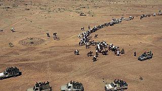 Una pattuglia al confine tra Sudan e Ciad vicino a Seleah, nel Darfur occidentale