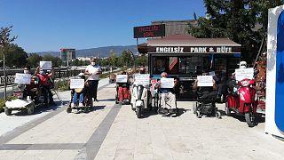 Tokat'ta engelliler Covid-19 tedbirlerine uymayanları protesto etti