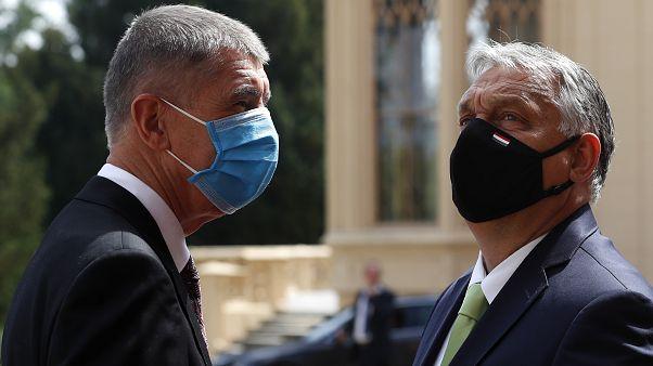 Andrej Babis és Orbán Viktor 2020 júliusában