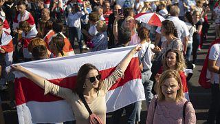 Minsk'te protestolar