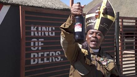 South Africa's booze church celebrates easing of virus controls
