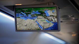عرض مسار رحلة طائرة العال الإسرائيلية المتوجهةإلى أبوظبي