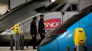 An SNCF train at the Montparnasse train station in Paris (FILE)