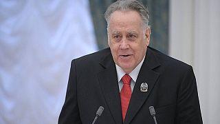 Владислав Крапивин на вручении премии президента России в Кремле 25 марта 2014