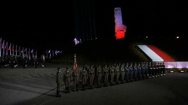 Церемония в годовщину начала немецкого вторжения в Гданьске 1 сентября 2020
