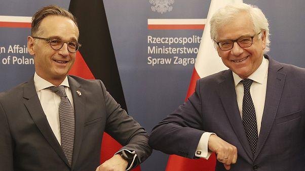 Der deutsche Außenminister Heiko Maas und sein polnischer Kollege Jacek Czaputowicz im Juni