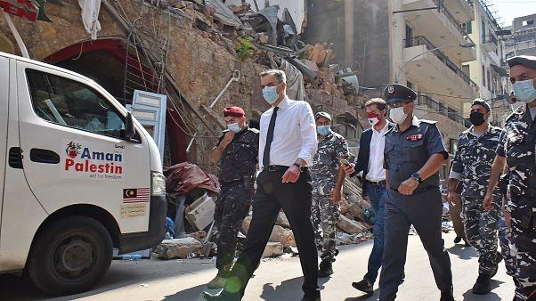 رئيس الحكومة اللبنانية المكلف حديثاً مصطفى أديب يزور أحياء في مدينة بيروت
