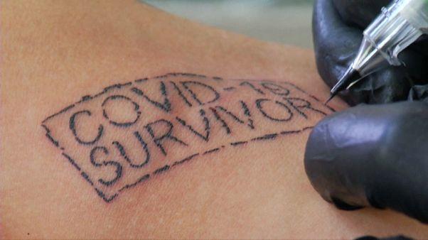 Tatuaje de la campaña 'COVID-19 survivor'