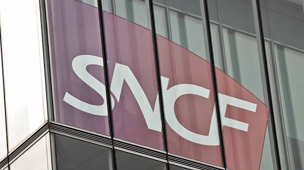 FILE: the Logo of France's national state-owned railway company SNCF is pictured in Saint Denis, outside Paris, Sept. 13, 2017.