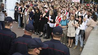 Students protest in Minsk