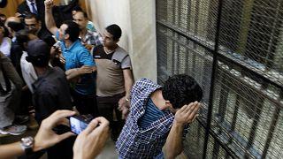 صورة لشبان مصريين أصدرت القضاء بحق كل واحد منهم حكماً بالسجن المؤبد بعد إدانتهم بارتكاب جرائم جنسية