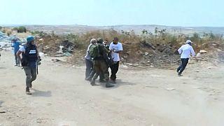 الجنود الإسرائليون يستخدمون القوة ضد فلسطنيين رفعوا العلم الفلسطيني في الضفة الغربية