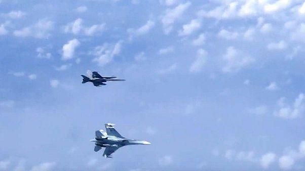 جنگنده سوخو۲۷ روسیه بر قراز دریای بالتیک