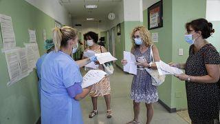 مستشفى سان كارلو في ميلانو، إيطاليا.