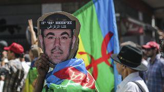 مظاهرة للمطالبة بإطلاق سراح معتقلي حراك الريف