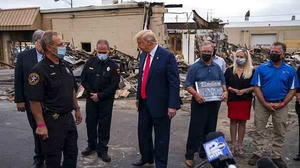 Başkan Trump Kenosha ziyareti