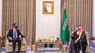 ولي العهد السعودي وجاريد كوشنر مسشتار الرئيس الأمريكي