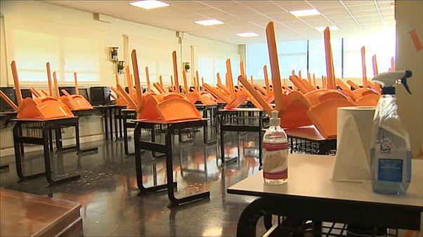Aula preparada para la Covid en ESPAÑA