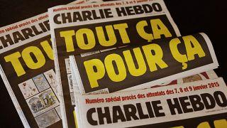 «شارلی اِبدو» و کاریکاتورهای پیامبر اسلام؛ تصاویر مجله و دادگاه متهمان
