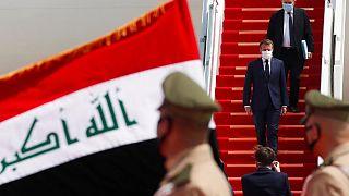 امانوئل ماکرون رئیس جمهور فرانسه در بغداد