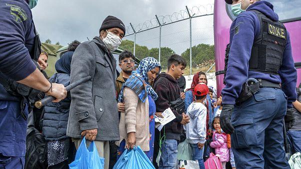 Πρόσφυγες στη Μόρια